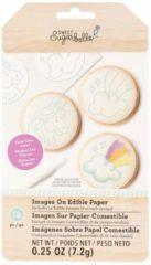 Witte Sweet Sugarbelle eetbare plaatjes voor op koekjes set 3