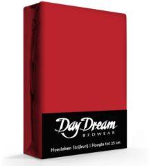 Day Dream Hoeslaken Katoen Rood-90 x 200 cm