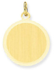 Gold Collection Glow 242.0032.18 Gouden Graveerplaatje Rond 18 mm
