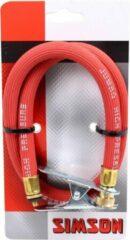 Rode Simson Pompslang Jumbo Voor Dunlop Ventiel 60 Cm