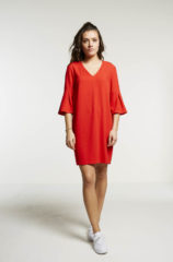 Rode BAR Amsterdam BY-BAR HIGH SUMMER ESSENTIALS balloon dress - red - S. Alle maten: s|l|xs|xl|m