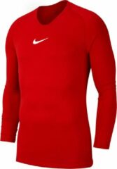 Nike Dry Park First Layer Longsleeve Shirt Thermoshirt - Maat 152 - Unisex - rood