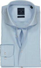 Profuomo Slim Fit overhemd - mouwlengte 72 cm - lichtblauw fine twill - Strijkvrij - Boordmaat: 40