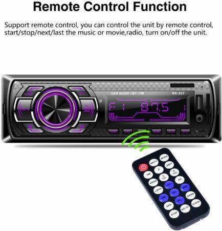 Afbeelding van Lakro Autoradio 7color LCD 12V Bluetooth FM-ontvanger met AUX SD USB MP3 MMC WMA autoradio-speler + snel opladen