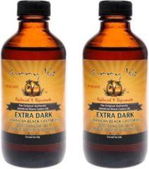 2 X SUNNY ISLE - EXTRA DARK JAMAICAN BLACK CASTOR OIL 4OZ / 118ML