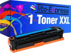 Blauwe Tito-Express PlatinumSerie PlatinumSerie® 1 Toner XL Cyan voor HP CE321A 128A Laserjet CP1525 CP1525N CP1525NW Laserjet Pro CP1525 CP1525N CP1525NW CM1415FN CM1415FNW,