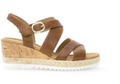 95362_3900 Gabor Comfort Dames Sandaletten - Cognac - Maat 38