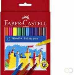 Transparante Faber-Castell Faber Castell 12 Viltstiften Doos 10 Stuks