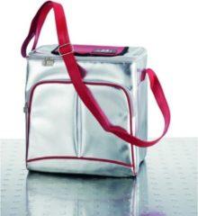 BE CooL TRAVELBOX Zilver/Rood  Design   Premium   Koeltas   Coolingbag   19 lrt  