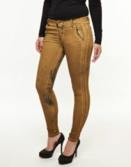 Gouden Please Jeans handcrafted vintage chique gold goud
