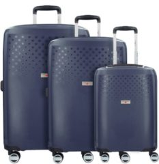 Bubbles 4-Rollen Kofferset 3 tlg. Hardware dark blue