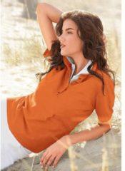 Oranje Casual Looks poloshirt in prachtige zomerkleuren