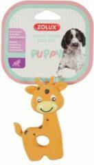Zolux puppyspeelgoed latex giraffe oranje 7,5x3,5x10 cm