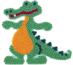Witte Hama beads Hama strijkkralen grondplaat - krokodil