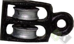 Trailer and Tools Katrol dubbel, diameter 12mm voor 3mm touw of kabel