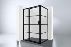 Best Design Best-Design Zeplin-1400 douchecabine met nisdeur zwart mat