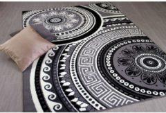 Pergamon Teppich Trendline Mandala Schwarz Creme in 4... 80x150 cm