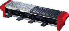 H.koenig RP4 Raclette Grill mit Granitstein und Grill für 4 Personen 600W