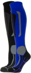 Merkloos / Sans marque Falcon Victoria Wintersportsokken - Maat 35-38 - Vrouwen - paars/ grijs/ zwart