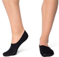 CADA Sneakersokken Anti Slip Siliconen Naadloos Anti Bacterieel Dames Zwart 35-38 per 2 paar