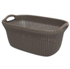 Curver knit heupwasmand - 40 liter - harvest brown