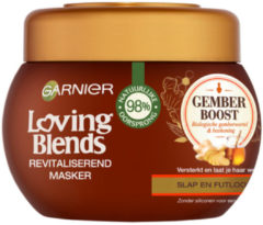 Garnier Loving Blends Gember Boost Haar Masker - 300 ml - Voor Slap en Futloos Haar