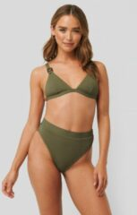 Groene NA-KD Swimwear Structured Edge Maxi Highwaist Panty - Green