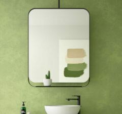 Muebles Twist roterende spiegel 70x90cm zwart