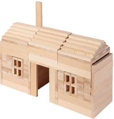 Bruine Gollnest & Kiesel GmbH BLOKKENDOOS, in blank hout, 200 pi?ces, blok 10,5x2x1cm, Made in Europe, 3+