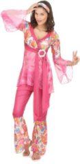 LUCIDA-CAMBODIA - Roze hippiekostuum voor dames - XL - Volwassenen kostuums