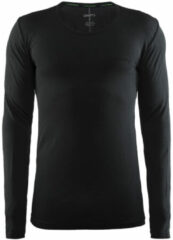 Zwarte Craft Active Comfort Roundneck Ls Sportshirt Heren - Black Solid