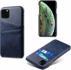Able & Borret Smartphone hoesje | Telefoon hoesje | Geschikt voor 2 pasjes | Anti shock | Blauw | iPhone 11 Pro Max