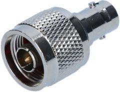 Zilveren Valueline NC-302 N Mannelijk BNC Vrouwelijk Zilver kabeladapter/verloopstukje