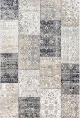 Lifa Living Laagpolig Vloerkleed - Patchwork - Donker Grijs - 160 x 230 cm - Vintage, Patchwork, Scandinavisch & meer stijlen vind je op WoonQ.nl
