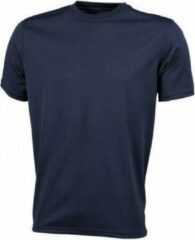 Zwarte Merkloos / Sans marque James nicholson T-shirt jn358 heren donkerblauw maat l