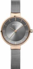 Antraciet-grijze Bering horloge