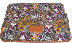 Kinmac – Laptop Sleeve met Paisley print tot 15.4 inch – 39 x 27 x 1,5 cm - Multi colour