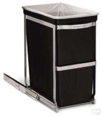 Zwarte Simplehuman Afvalemmer Inbouw Pull Out 30 liter