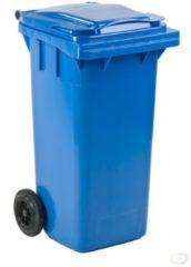 Merkloos / Sans marque Mini rolcontainer 120 liter blauw