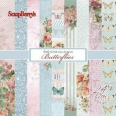 """Scrapberry's: Butterflies Paper Collection Set 6*6"""" (SCB220606614)"""