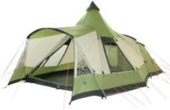 10-T Outdoor Equipment 10T Navaho 470+ - 5-Personen Tunnel-Zelt mit Pyramiden-Wohnraum in Stehhöhe und Vordach eingenähte Bodenwanne WS=5000mm
