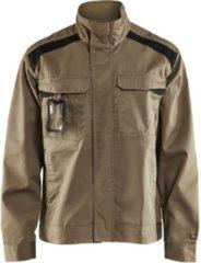 Kaki Blåkläder 4054-1800 Industriejack Ongevoerd Khaki/Zwart maat S