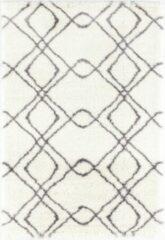 Impression Rugs Pearl Vloerkleed Wit / Grijs Hoogpolig - 80x150 CM