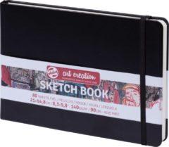 Witte Royal Talens Talens Art Creation Schetsboek 21x14,8 cm 140gr 80 vel Zwart