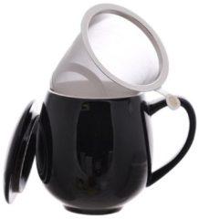 Zwarte Theemok met filter 350 ml - ChaCult Zaara zwart