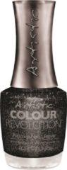 Donkergrijze Artistic Nail Design Colour Revolution 'Call me Miss-Chete'
