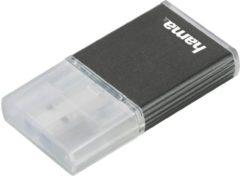 Antraciet-grijze Hama USB-3.0-UHS-II-kaartlezer, SD, alu, antraciet