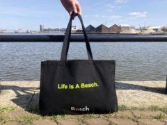 Gele Rosch Amsterdam Rosch Boodschappen / Strand Shopper 'Life Is A Beach'