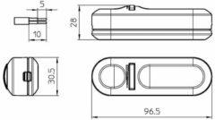Groenovatie LED Snoerdimmer Universeel 1004P 230V, fase aansnijding 4W-25W Zwart