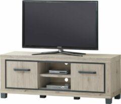 Belfurn - Tv-meubel 155cm Elodie in licht eiken decor met grijze omlijning
